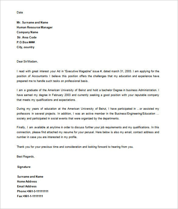 Free Download  Formal Letter Template Download