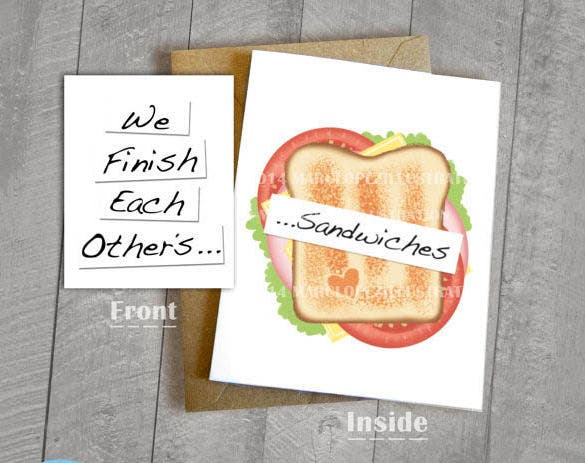 sandwich model 5x7 envelope template
