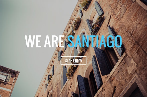 santiago one page parallax html template