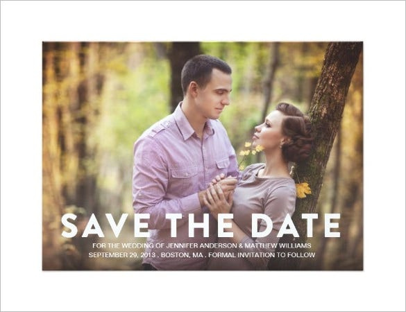 save the date announcement invitation card template