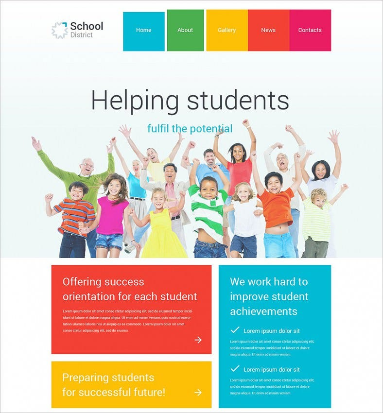 school district wordpress theme 788x850