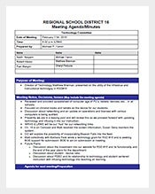 School-Project-Meeting-Minutes-Template