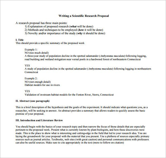 scientific research proposal format - Brief Essay Format