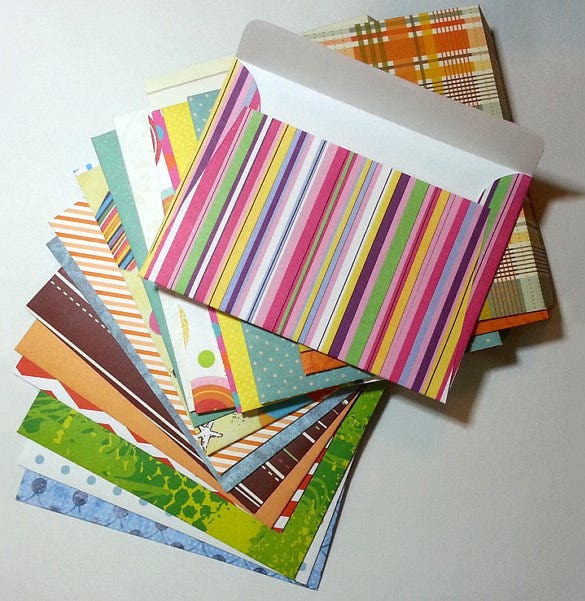 Sample Letter Envelope Template Papercraft Envelopes Old Mail