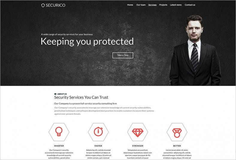 securico website template 788x536
