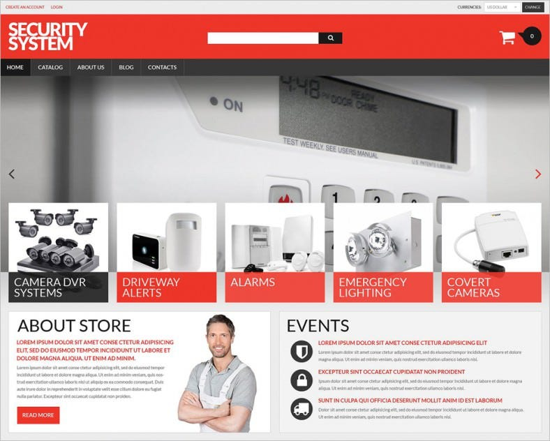 Security Products Store VirtueMart Template
