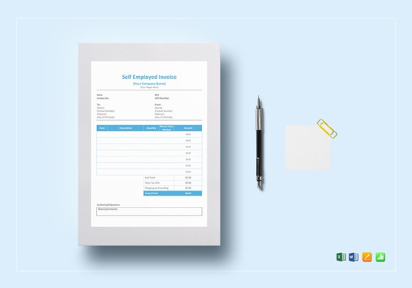 Self Employed Invoice Template Free Word Excel PDF Documents - Free invoice template : self employed invoice template