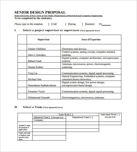 Senior Design Proposal Sample Template
