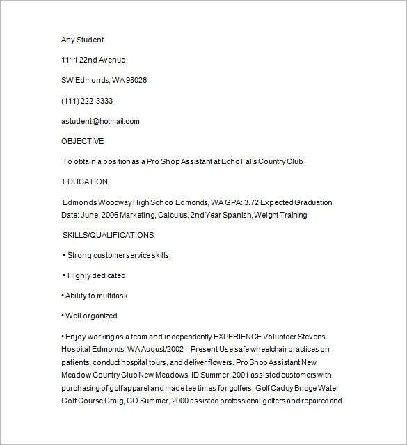 senior golf caddy resume download