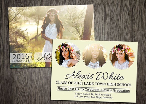 senior graduation card template for 8