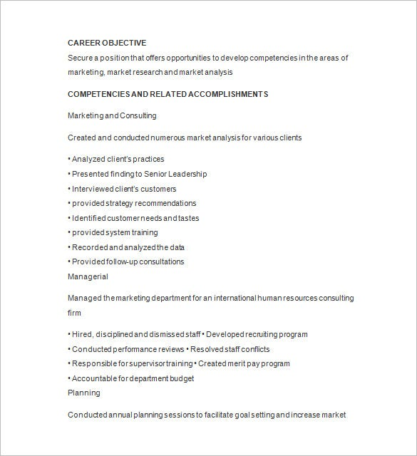 Senior Marketing Analyst Resume Word Download  Market Research Resume