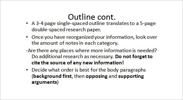 senior project outline template example ppt download