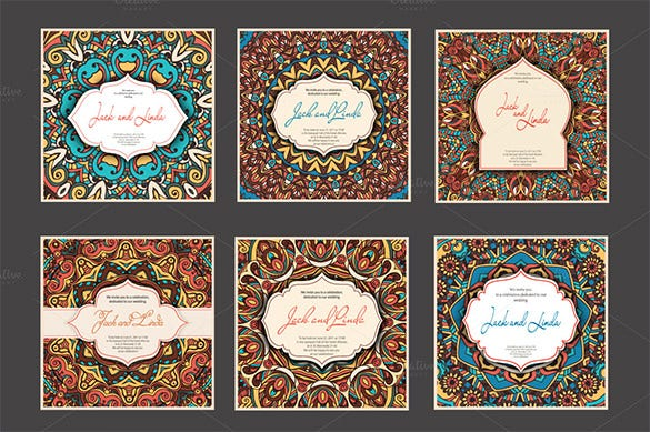 set of 36 invitation cards template 11