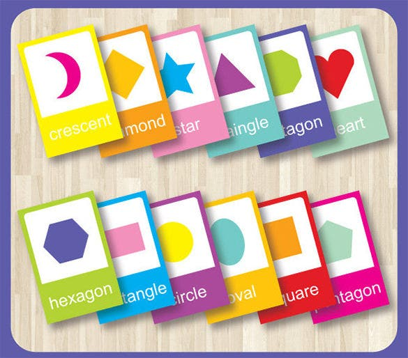 Superior Shape Basics Flash Card Template