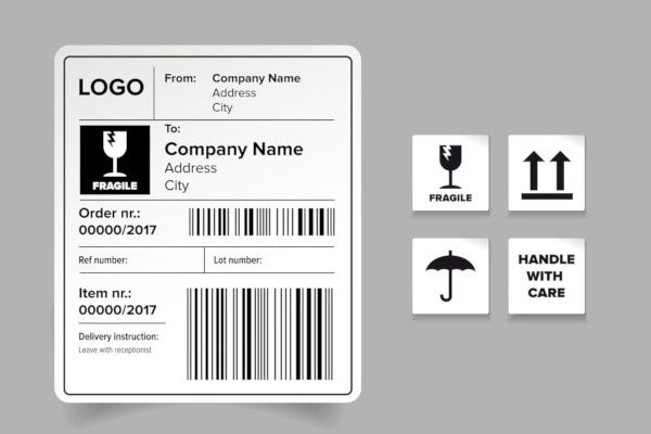 shipping adress label template