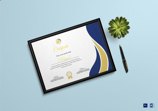 shooting-training-completion-certificate-template