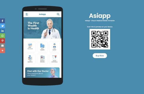 shop medical mobile template