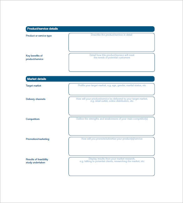 simple bank business plan template