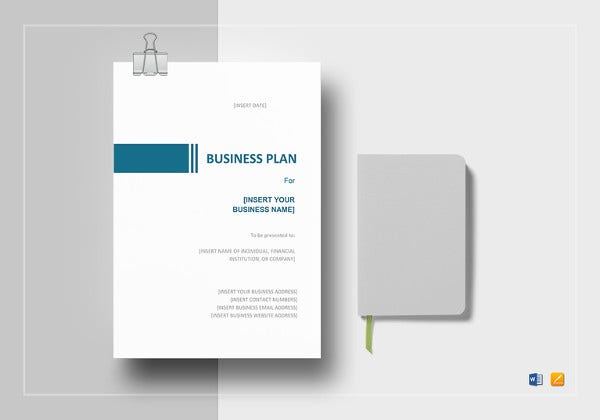 simple business plan word template to print