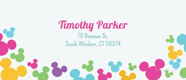 simple disney address label template