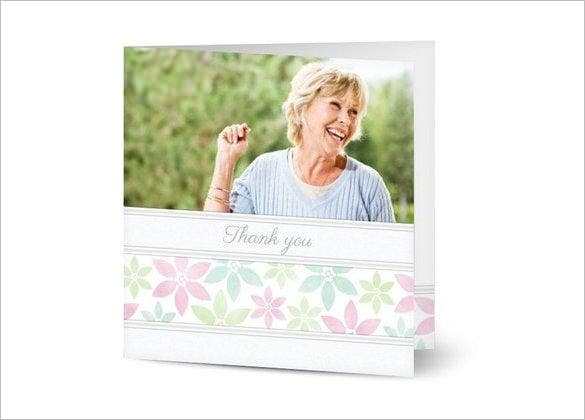 simple funeral thank you card design download