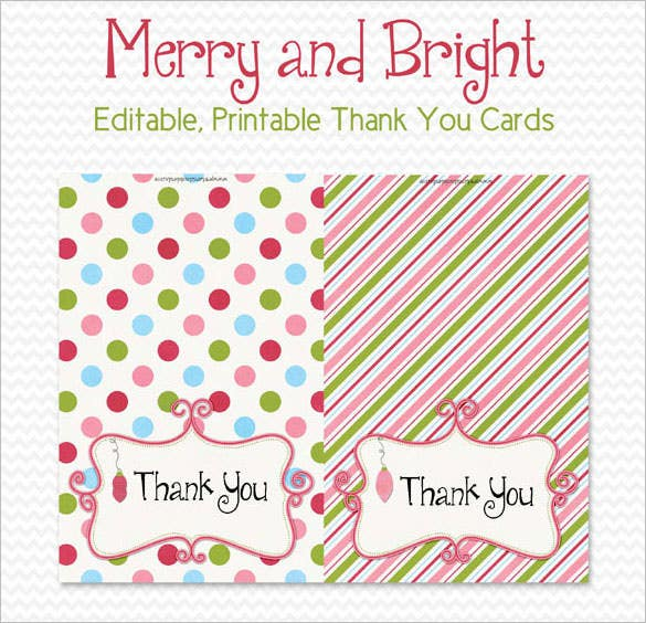 graphic relating to Christmas Thank You Cards Printable Free known as 15+ Trip Thank On your own Playing cards No cost Printable PSD, PDF, EPS