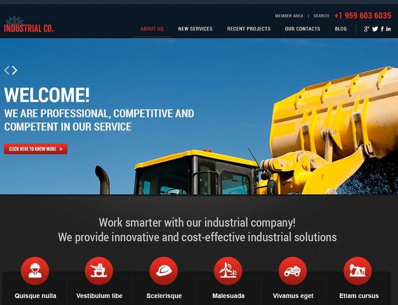 Simple Industrial Editable WordPress Theme