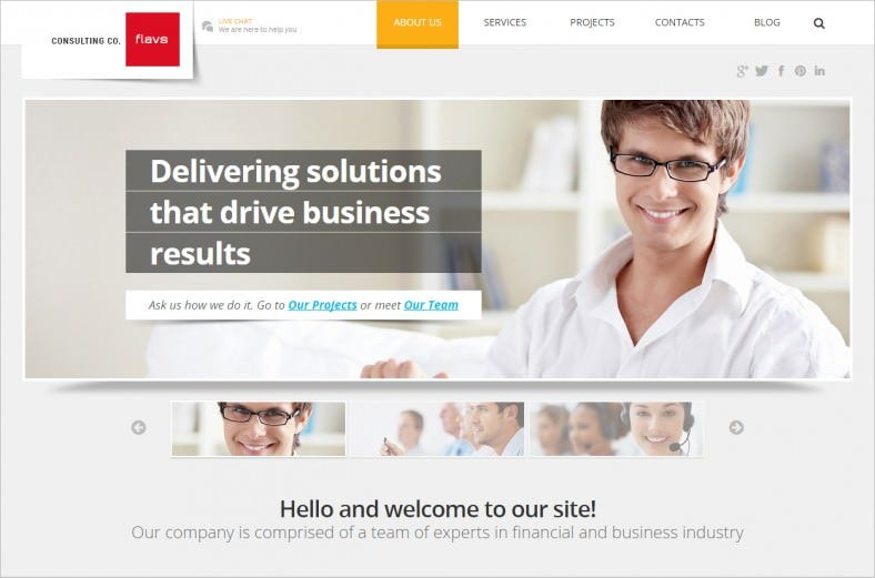 Simple Installation Joomla Theme for Consulting