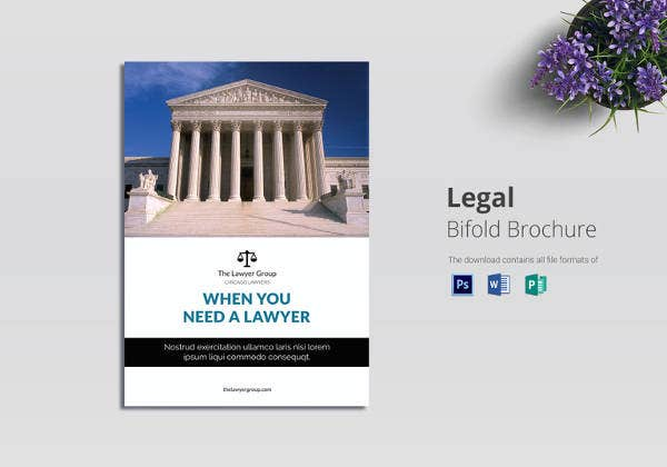 simple legal brochure bi fold