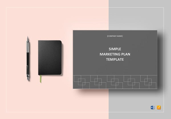 simple marketing plan word template