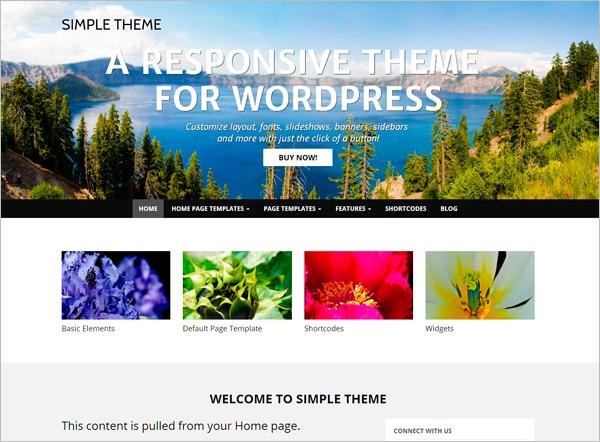 Simple & Minimal Layout WordPress Theme Free Download