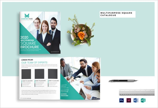 simple multipurpose square brochure catalog template
