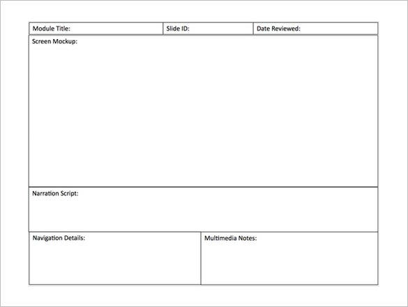 simple powerpoint storyboard template download