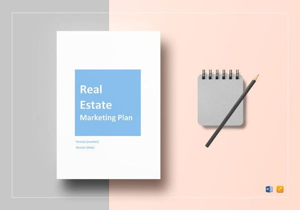 simple real estate marketing plan template