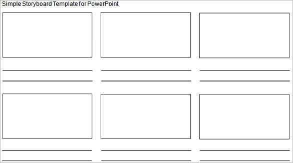 simple story board template powerpoint format example