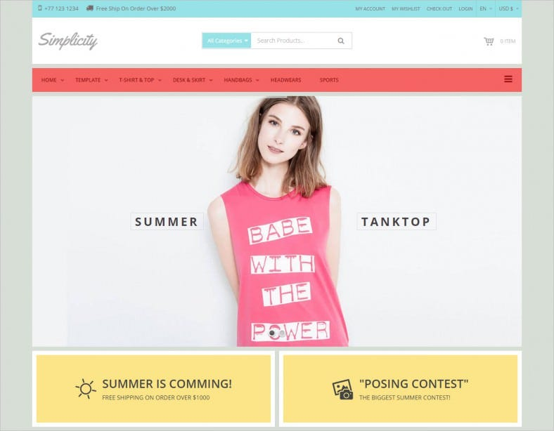 simplicity responsive ecommerce joomla template 788x614