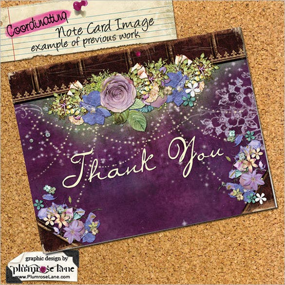 small business thank you card template