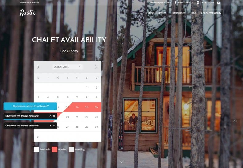 Small Hotel Booking & Travel WordPress Theme