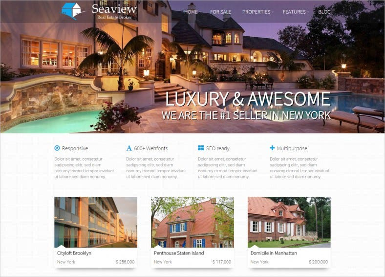 Smooth Slider Integrated Wp template for Real Estate