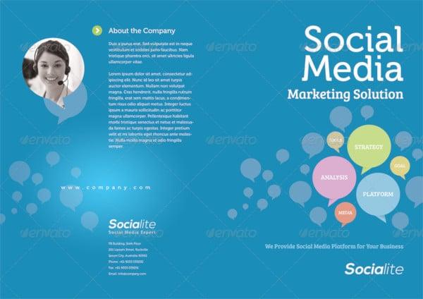 social media half fold and brochures