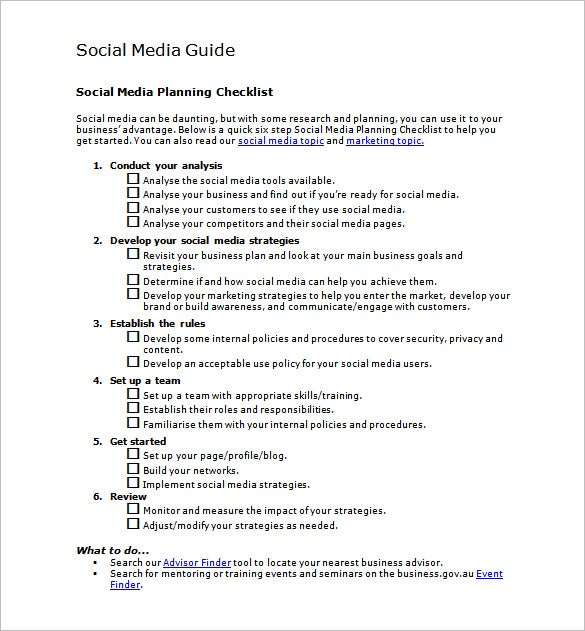 social media marketing plan template free download