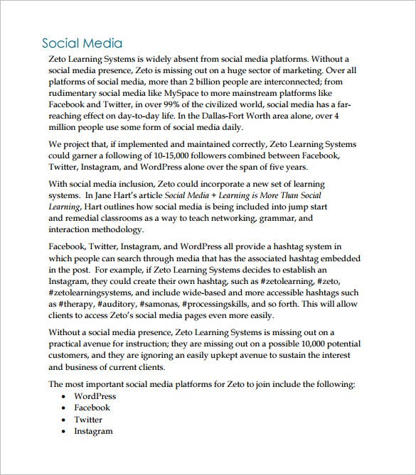 social media marketing proposal pdf1
