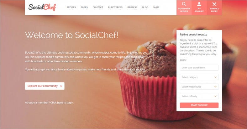 socialchef social recipe wordpress theme 788x414