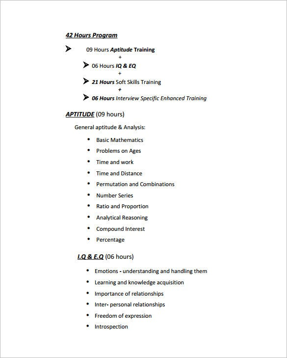 Sample Of A Soft Skills Training Proposal