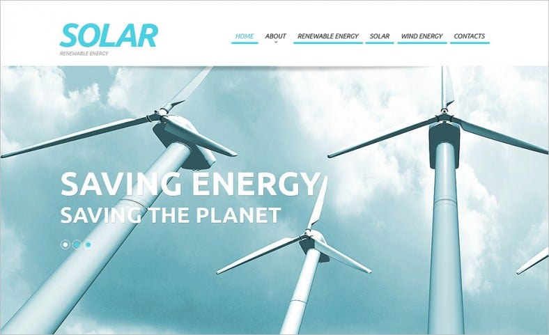 Solar Energy Business Responsive Website Template