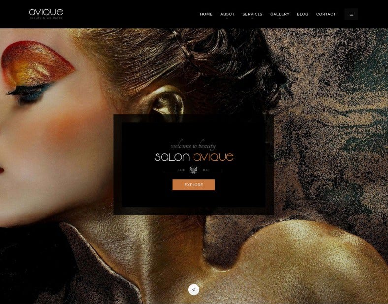 Spa & Beauty Salon PSD Website Template