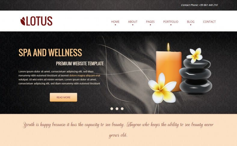 Spa & Wellness HTML Responsive Template