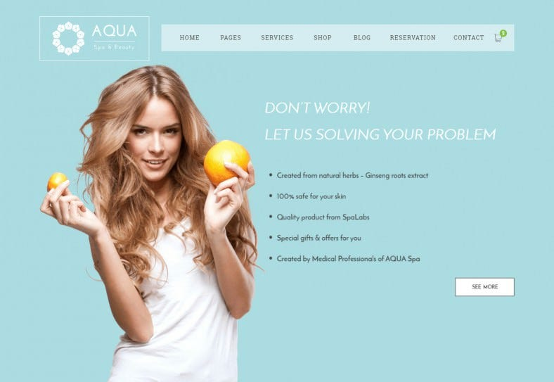 Spa and Massage Center HTML5 Website Template