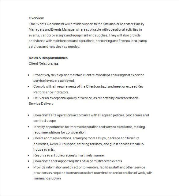 Resume Sample For Event Planner