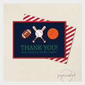 Sports-Baseball-Thank-You-Card